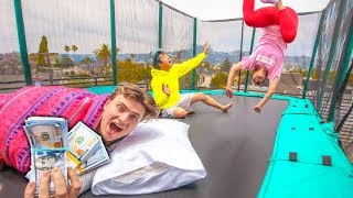 LAST TO LEAVE TRAMPOLINE WINS $10,000