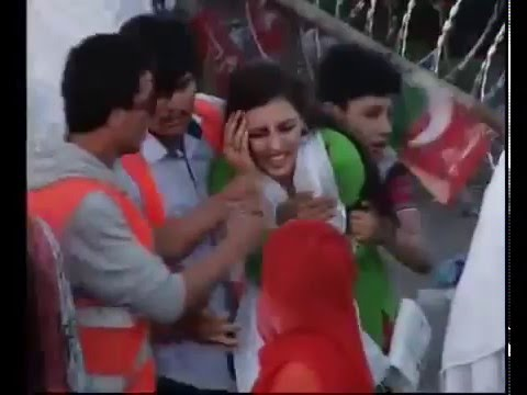 Misbehave with girl at PTI Islamabad Jalsa