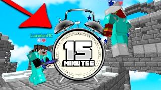 I GOT DESTROYED in Minecraft 15 Minute CHALLENGE! (Skywars)