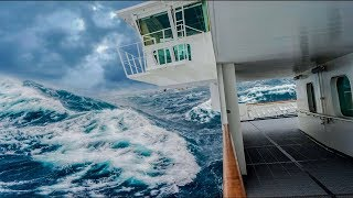 CRUISE SHIP CAUGHT IN MONSTER STORM! Shocking Onboard Footage