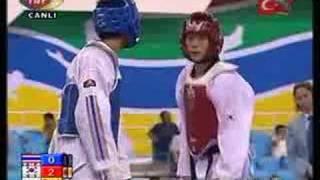 54kg FINAL - (KOR) vs (THA) (2007 world taekwondo championship)