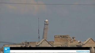 شاهد صور تفجير مسجد النوري والمنارة الحدباء في الموصل