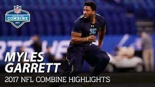 Myles Garrett (Texas A&M, DL) | 2017 NFL Combine Highlights