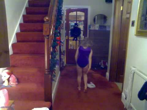 Me doing gymnastics at Christmas