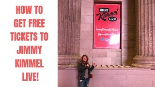 How To Get Free Tickets For Jimmy Kimmel Live!