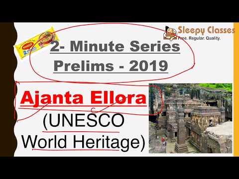 2 Minute Series History Ajanta Ellora Caves Prelims 2019