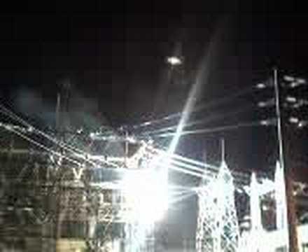 arco electrico por averia en subestacion