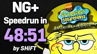 SpongeBob SquarePants: Battle for Bikini Bottom NG+ Speedrun in 48:51 (WR on 3/17/2018)