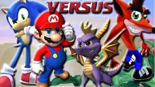All Star Battle : Sonic VS Mario VS Crash VS Spyro