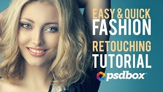 Easy Beauty Photoshop Retouching Tutorial