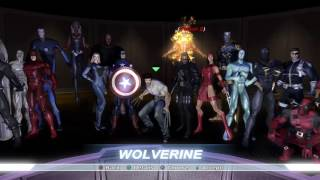Marvel Ultimate Alliance - All Character Costumes Unlocked! (Playstation 4)