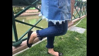 Evde Kota Püskül Yapimi - Kendin Yap ( DIY Fringed Jeans at home)