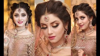 Front Twist Hairstyle ☆ Latest Bridal Hair 2018☆ Celebrity Hairstyle ☆Traditional Hairstyles