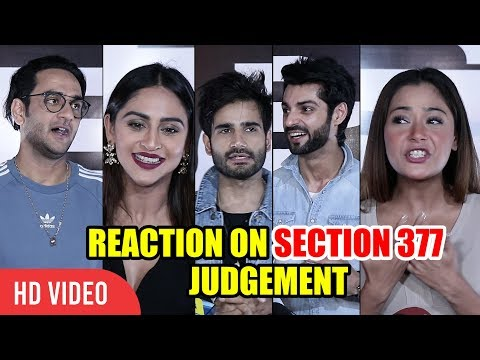 Xxx Mp4 Television Celebrities Reaction On Section 377 Judgement Krystle D 39 Souza Vikas Gupta Sara Khan 3gp Sex