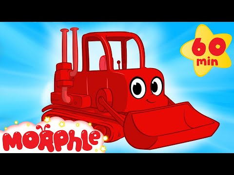 My Red Bulldozer 1 Hour Kids Videos compilation Digger Firetruck My Magic Pet Morphle