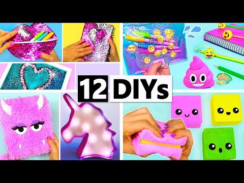 12 DIY YOU CAN MAKE IN 5 MINUTES DIY SCHOOL SUPPLIES AND MORE