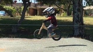 3 year old balance bike video kids early rider lite alley runner BMX strider