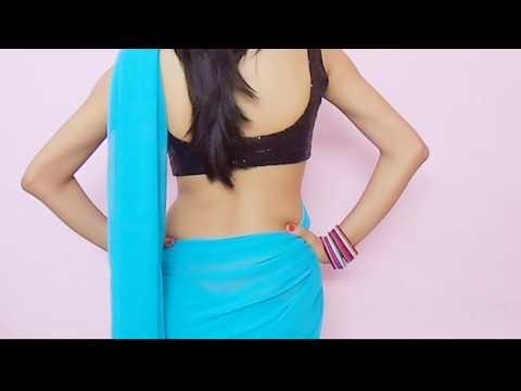How To Wear Bollywood Saree Blouse-Drape Sari Wraping Video/Low Waist Saari/Choli