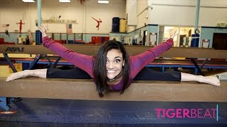 Laurie Hernandez Teaches 'Ivy & Julie' Stars Nina Lu and Hannah Nordberg Gymnastics