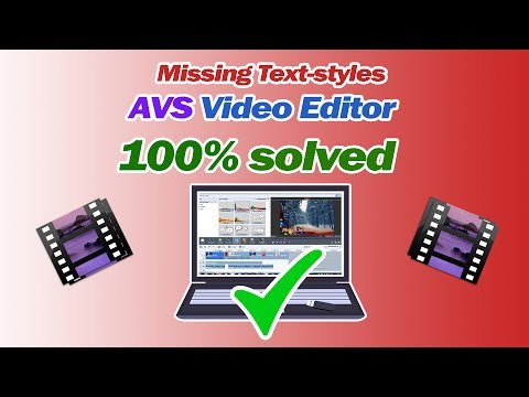 Xxx Mp4 AVS Video Editor Text Styles Missing Solved 3gp Sex