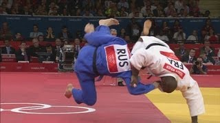 Teddy Riner (FRA) Wins Judo Gold v Alexander Mikhaylin (RUS) - London 2012 Olympics