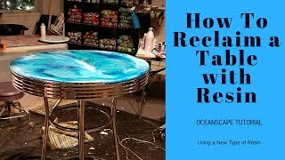 Refinish a Table to Look like an OCEAN (Resin Art Oceanscape)