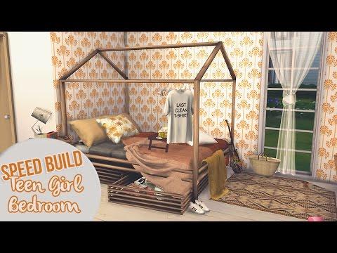 TEEN GIRL BEDROOM II The Sims 4 Speed Build