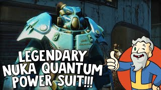 "Fallout 4 Nuka World DLC ""LEGENDARY NUKA QUANTUM POWER SUIT!!!"""