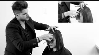 CUTTING A PERFECT SIDE BANG - HOW TO CUT A SIDE SWEPT BANG - HAIRCUT FRINGE