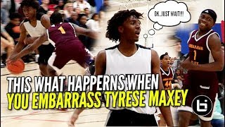 DEFENDER RIPS TYRESE MAXEY WATCH WHAT HAPPENS NEXT! Ballislife Highlights