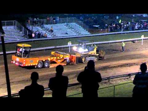 Dozer pulls in tractor and wins