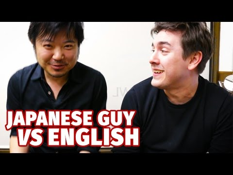 Japanese Guy VS English First Lesson Ever