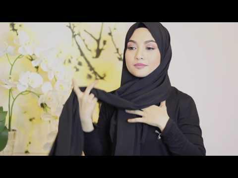 Xxx Mp4 Sufyaa Hijab Tutorial Basic Neck Tie Style With Chiffon Shawl 3gp Sex