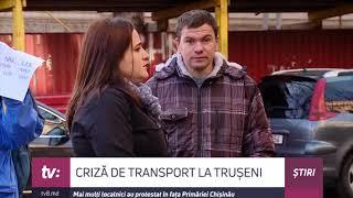 Criză de transport la Trușeni. Mai mulți localnici au protestat în fața Primăriei Chișinău