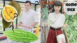 My American Fiancé's Shocked at Chinese Supermarket | Huge Asian Grocery Shopping Part 1