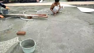 busa digunakan untuk membersihkan sisa semen