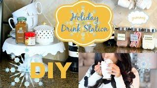 DIY Holiday Coffee Bar Tea & Hot Cocoa  Drink Station - MissLizHeart