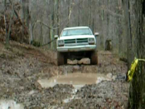 5 Points WV benefit ride near Wallace Dodge Ramcharger crawling along fenders a rubbin