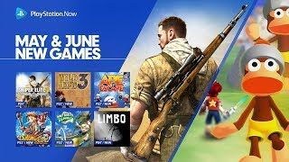 PlayStation Now - May & June 2018 Update | PS4, PC