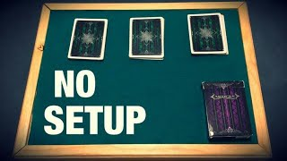 The IMPOSSIBLE No Setup Card Trick REVEALED