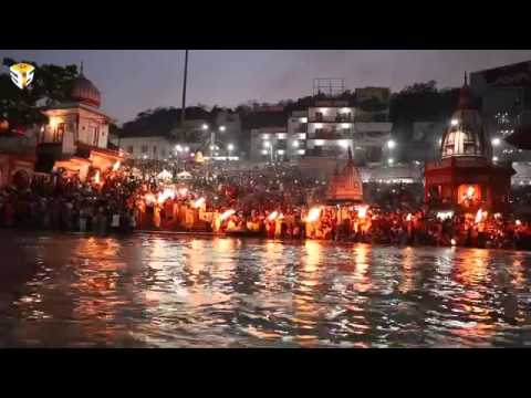 Ganga Aarti at Har Ki Pauri Haridwar By Three P's Entertainment 1080P HD