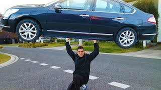 SECRET TRICK TO LIFT A CAR (YOU CAN DO THIS!)