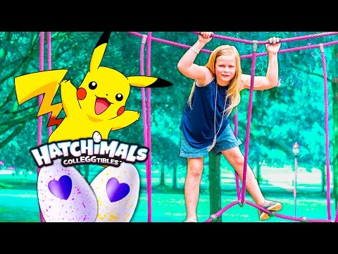 Xxx Mp4 HATCHIMAL And POKEMON Hunt The Assistant Fun Play Date At The Park 3gp Sex