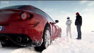 Ferrari FF Vs. Bentley Continental V8 on Ice! - Top Gear - Series 18 - BBC