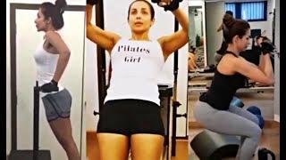 Malaika Arora Khan Hot Workout At Home !!