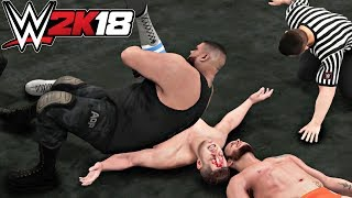 WWE 2K18 Gameplay   Authors Of Pain vs TM-61 Tag Team HIAC Match (NXT Takeover The End)