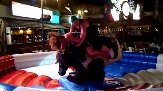 Tonk dry humps lass on bull in magaluf