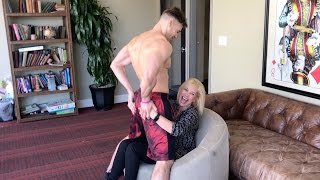 Mom Gets Lap Dance While Son Watches (Awkward)