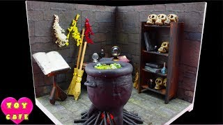 Witch's Workshop, Halloween DIY Miniature Dollhouse With Working Lights,