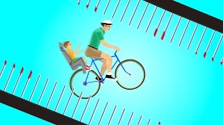 IMPOSSIBLE SPIKE FREE FALL! (Happy Wheels)